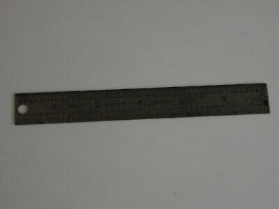 Starrett 6 inch Machinist Rule No. C604R