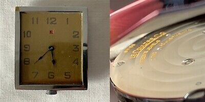 Antique Swiss LeCoultre Co. 8-Day Travel Clock Movement 15 Jewels 2 Adjustments