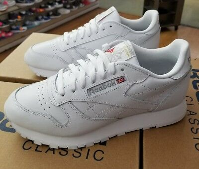 Reebok Classic Leather 9771 White/Light Grey Men Us Sz 12