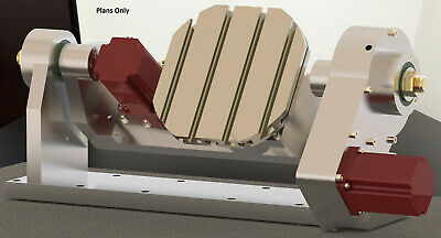 cnc router plans Milling machine table, Module 4th 5th axis 3D CAD