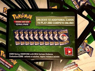 Pokemon Trading Card Game Online - Burning Shadows - Game Code Only x 10