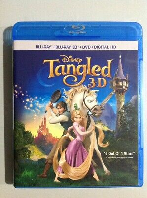 Tangled Movie 3D Blu-Ray Disc Only.new.read Details.a Must Own.rare Collector It