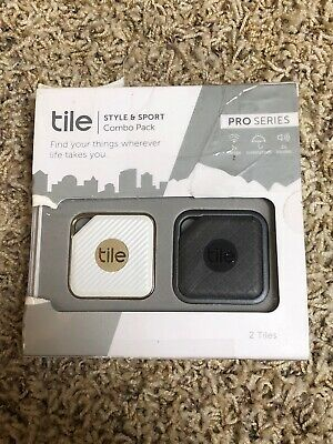 Tile Pro Series, Sport and Style Smart Trackers (2-pack)  - Graphite/Gold | New