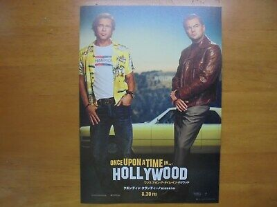 Once Upon a Time in Hollywood MOVIE FLYER mini poster Chirashi Japan 1-7