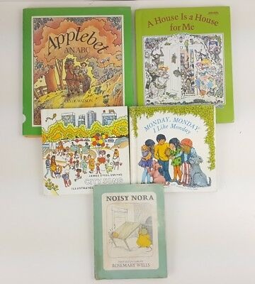 childrens picture books story read reading circle bedtime storytime lot of 5