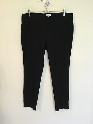 TARGET COLLECTION Size 16 Black Under Bump Ankle Grazer Skinny Maternity Pants