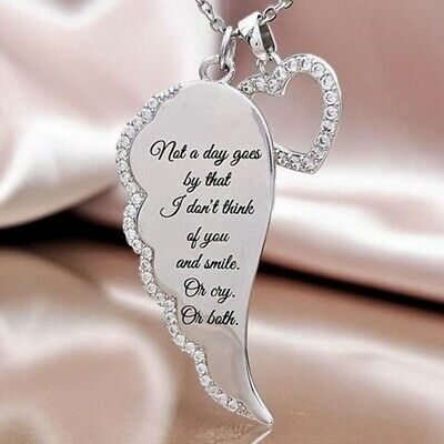 Fashion Style 925 Silver  Angel Wing Love Necklace Beautiful Fashionable