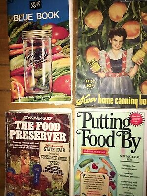 4 Ball Blue Kerr Canning Freezing Gardening Book Lot Cookbook Books Free Ship