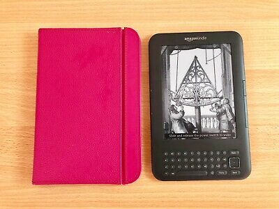 Amazon Kindle Keyboard E-Reader, Model D00901, Wi-Fi, With Cover