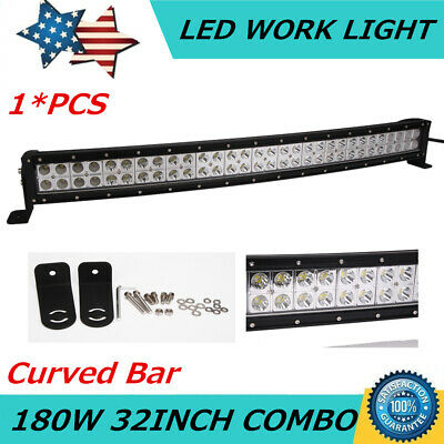"Slim 32inch 180W Curved LED Work Light Bar Combo Boat Offroad Jeep Lamp PK 30/""34"