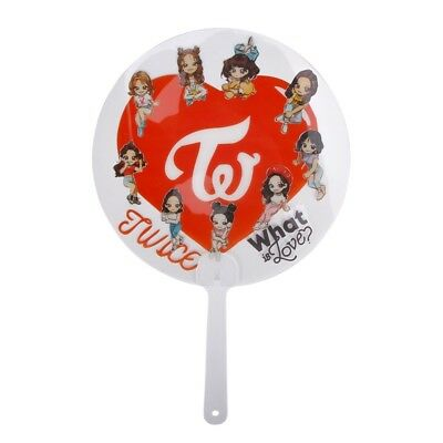 Kpop TWICE What is Love Ablum Pattern Round Transparent Hand Holder Fan Durable