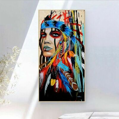 Lady Girl Canvas Oil Painting Printed Picture Wall Art Decor Unframed Individual
