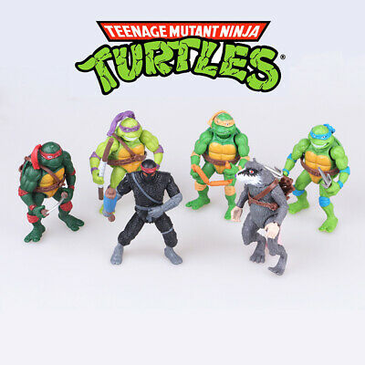 Teenage Mutant Ninja Turtles 6 PCS TMNT Cake Topper Action Figure Kids Gift Toys