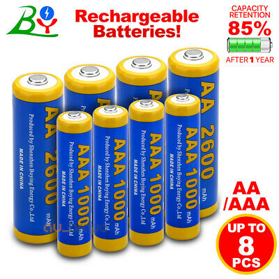 BY AA / AAA Rechargeable Battery NI-MH Low Self-Discharge rechargeable batteries