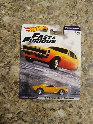 2019 hot wheels Fast and Furious 1/4 Mile Muscle 67 Chevrolet Camaro BRAND NEW