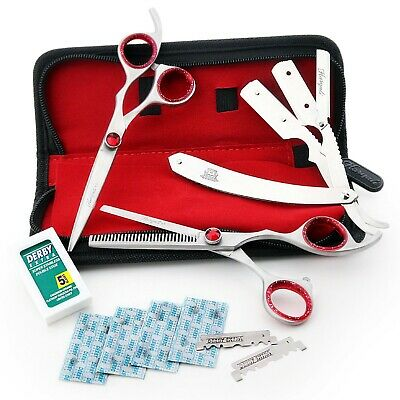 Scissors Shears Set With Razor 4 Hairdressing Salon, Professional, Barbers.