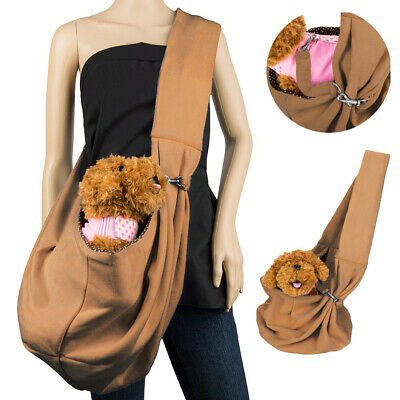 Small Cat Dog Carrier Sling Pouch Outdoor Pet Puppy Front Pack Shoulder Bag New
