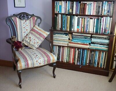 Attractive Victorian mahogany open arm chair circa 1870.
