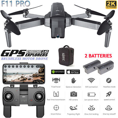 SJRC F11 PRO GPS RC Drone Foldable Quadcopter With 5G WiFi FPV 2K HD Camera oo