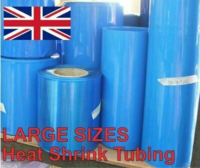 Heat Shrink Tube Tubing Wrap Sleeve Blue 280mm x 1 metre 18650 Battery UK Stock