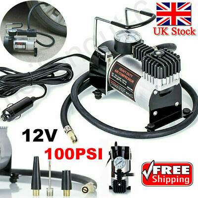 12v Car Air Compressor 100PSI Electric Tyre Deflator Portable Inflator Pump ME