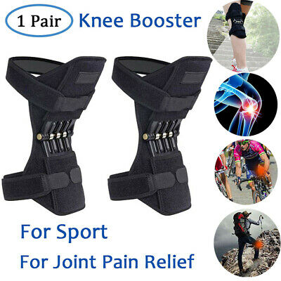2 Pcs Patella Booster Spring Knee Brace Support for Mountaineering Squat Sports