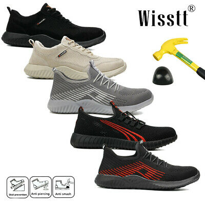 Top Mens Safety Shoes Trainers Steel Toe Work Boots Sports Hiking Shoes Sneakers