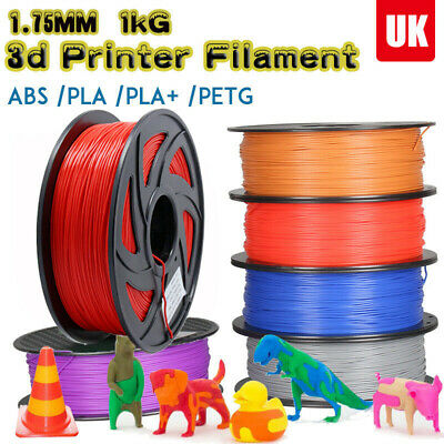 3D Printer Filament PLA - 1.75mm -1KG 340Meters - Various Colours Available UK