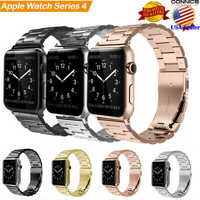 Stainless Steel Strap fr Apple Watch Series 4 44mm Wrist Band iWatch 3 2 1 42mm
