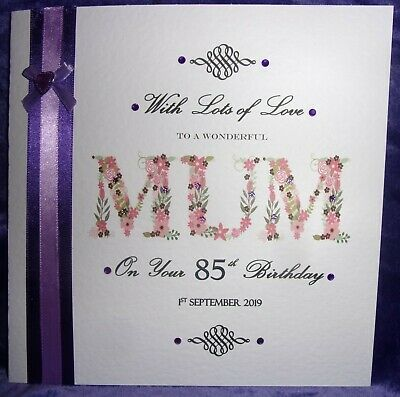 Large Personalised Birthday Card 40th 50th 60th 70th 80th 90th 100th Mum Gran