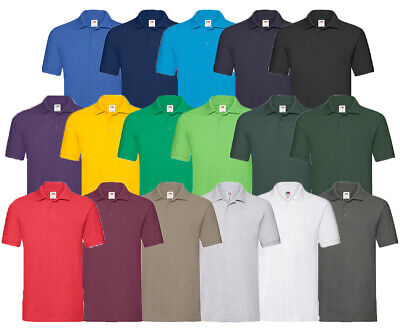 Fruit Of The Loom Polo Premium / Pique 65/35 Poloshirt M L Xl 2Xl 3Xl Shirts Neu