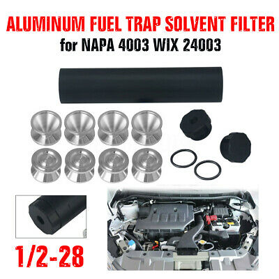 1/2-28 L9'' Car FUEL FILTER Solvent D Cell Storage Cups for NAPA 4003 WIX 24003