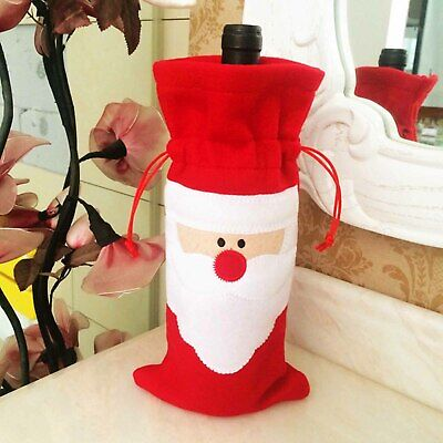 Christmas Wine Bottle Cover Dinner Party Decoration Xmas Santa Claus Wine Bag