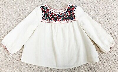 Embroidered Bonpoint Baby Blouse, 18M