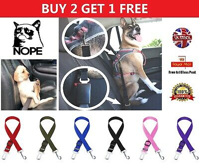 Adjustable Dog Safety Seat Belt Pet Puppy Harness Leash Leads Restraint Strap