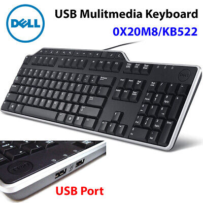 Brand New Dell USB Multimedia Keyboard KB522 / 0X20M8 for PC Desktop Computer