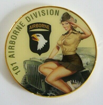 """Coins 101Ieme Airborne """" Pin Up """""""