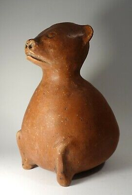 REPRO Pre Columbian era Vintage Mississippian Red Dog Pottery Vessel Pot Jar