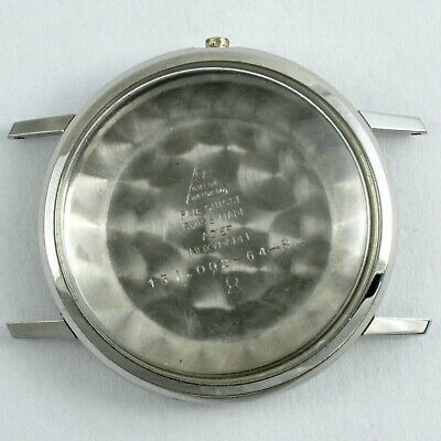 Swiss Omega 34.3 mm Ø St Steel complete round case part Ref. 131.002 for Cal 286
