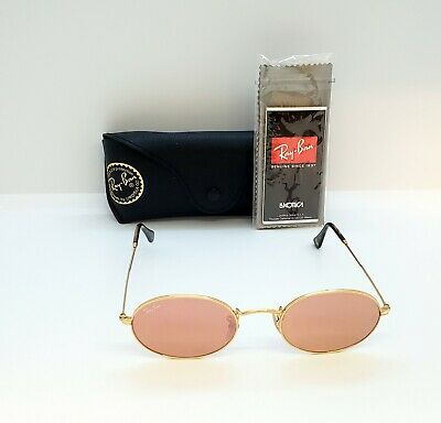 8125676366a RAY BAN 3547 N 001/Z2 Shiny Gold Flat Copper Pink Mirror New ...