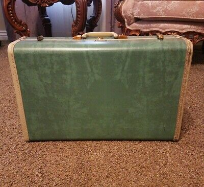 Vintage Samsonite Luggage Suitcase Marble Green Aqua Turquoise 5121 ~ As Is 21""