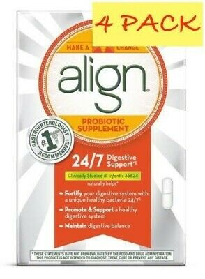 Align Probiotic Daily Digestive Supplements 168 capsules 4 pack boxes of 42 each