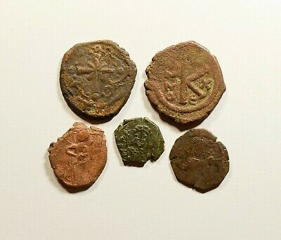 Ancient Byzantine Bronze Coin - LOT OF 5