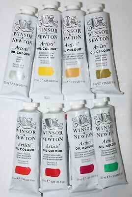 See of 8 Winsor & Newton Oil Paint's-37ml-All Series 2 colors