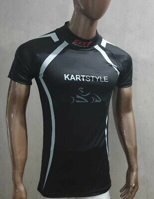KARTING  Gym Fitness SHORT SLEEVE BASE LAYER T-SHIRT WEAR UNDER SUIT TOP