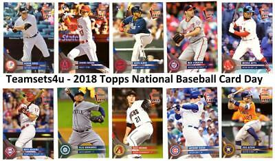 2018 Topps National Baseball Card Day Set ** Pick Your Team ** Read Checklist **