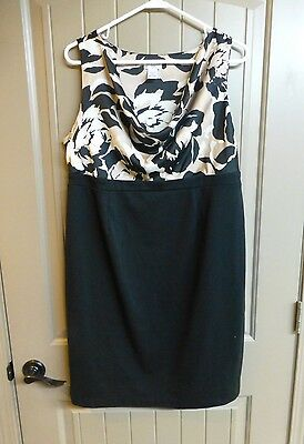 Motherhood Maternity Dress Womens Size L Black & Beige Dress Excellent Condition