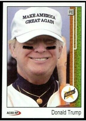 President Donald Trump 1989 Upper Deck Ken Griffey Jr. Style ACEO Baseball Card