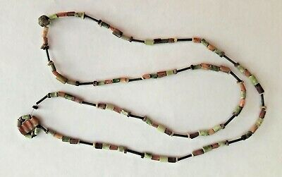 Peru pre columbian beads necklace, 3 colour mixture; genuine antique! 14 grs