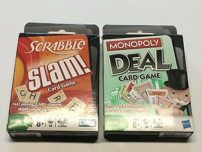 Monopoly Deal Card Game & Scrabble Slam Card Game